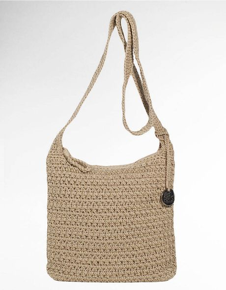 Sak Crochet Bag : The Sak Casual Classics Crochet Crossbody Bag in Beige (bamboo) Lyst