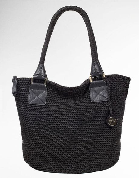 The Sak Cambria Crochet Tote Bag in Black Lyst