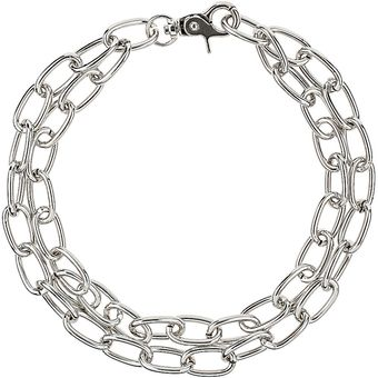Topshop Oval Link Chain Necklace - Lyst