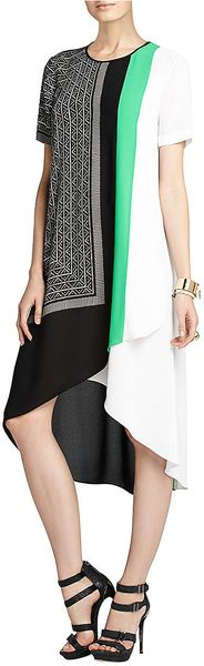 BCBGMAXAZRIA Adeline Scarfprint Asymmetrical Dress - Lyst