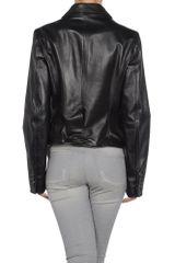 Dsquared2 Leather Outerwear in Black - Lyst