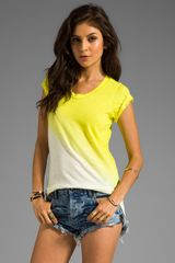 LNA Angle Dip Dye Tee in Yellow - Lyst