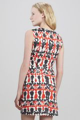 Milly Printed Sleeveless Shift Dress - Lyst