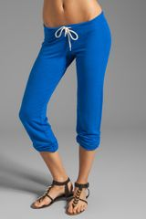 Monrow French Terry Super Soft Vintage Sweats in Blue - Lyst