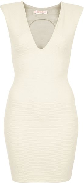 Topshop Deep V Bodycon Dress By Oh My Love - Lyst