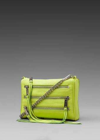 Rebecca Minkoff Mini Five Zip in Green - Lyst
