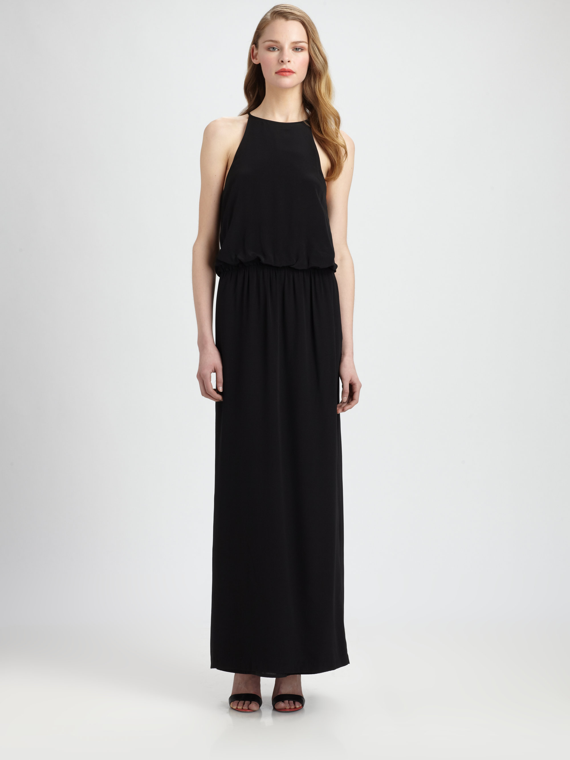 Tibi black maxi dress