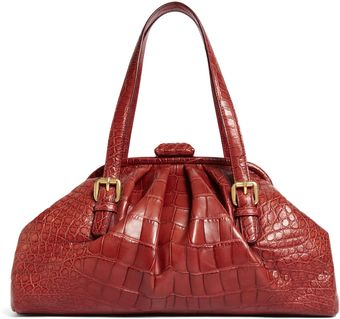 Brooks Brothers Alligator Soft Frame Bag - Lyst