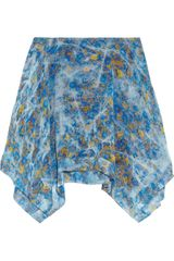 Edun Printed Silk Habotai Mini Skirt - Lyst