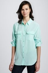 Equipment Signature Silk Button Blouse - Lyst