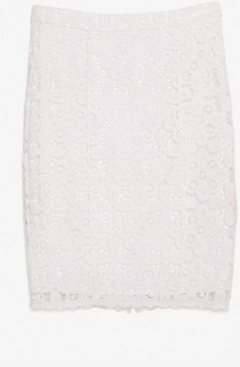 Exclusive For Intermix Floral Lace Pencil Skirt - Lyst