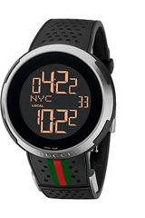 Gucci I 49mm Digital Rubber Strap Watch - Lyst