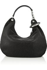 Jimmy Choo Solar Studded Leather Hobo Bag - Lyst