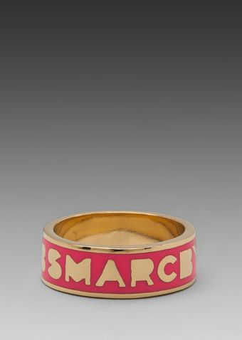 Marc By Marc Jacobs Classic Marc Dream Logo Ring in Pink - Lyst