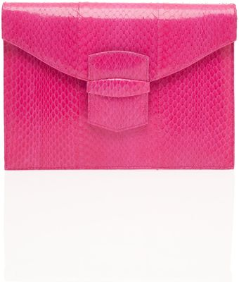 Oscar de la Renta Small Grafton Clutch Bag - Lyst