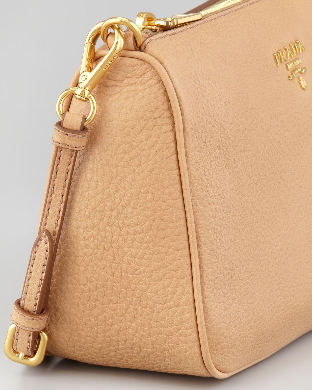 prada handbag tote - Prada Daino Small Shoulder Bag in Beige | Lyst