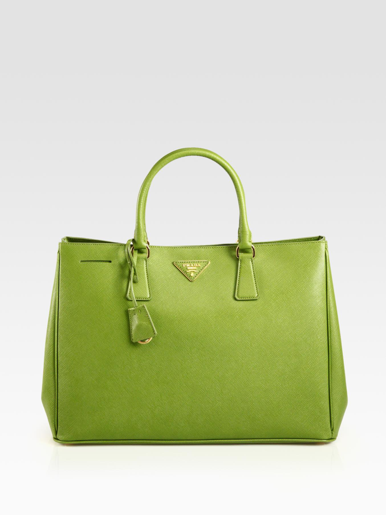 f666657f1589 ... discount code for best lyst prada saffiano lux tote in green 5d036  a7b70 c0984 0ec7f