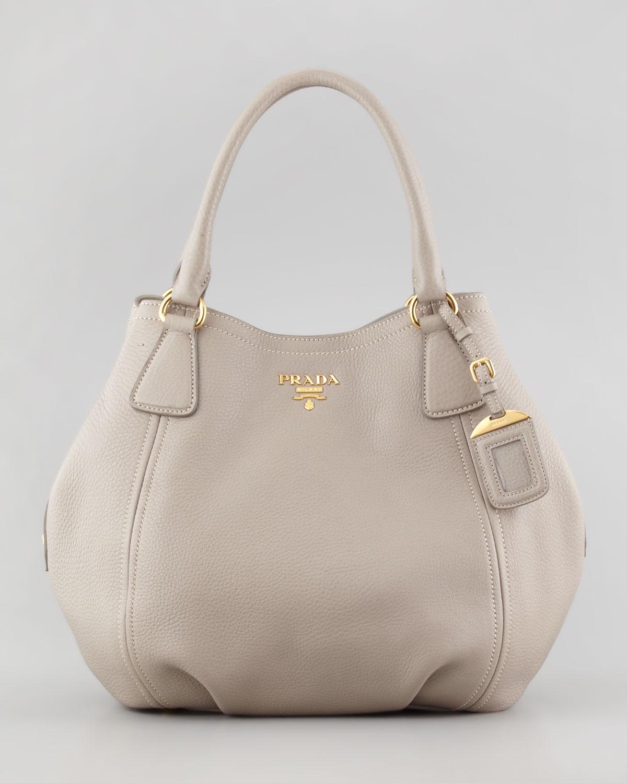 14ba18d45b06 ... italy lyst prada daino medium shoulder tote bag in gray fffdc a6dbb
