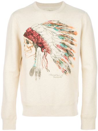 Ralph Lauren French Terry Printed Sweatshirt - Lyst