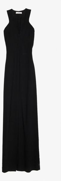 Robert Rodriguez Cut Out V Neck Gown Black - Lyst