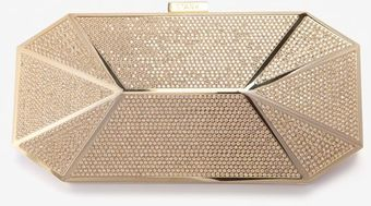 Stark Gold Crystal Put A Ring On It Clutch - Lyst