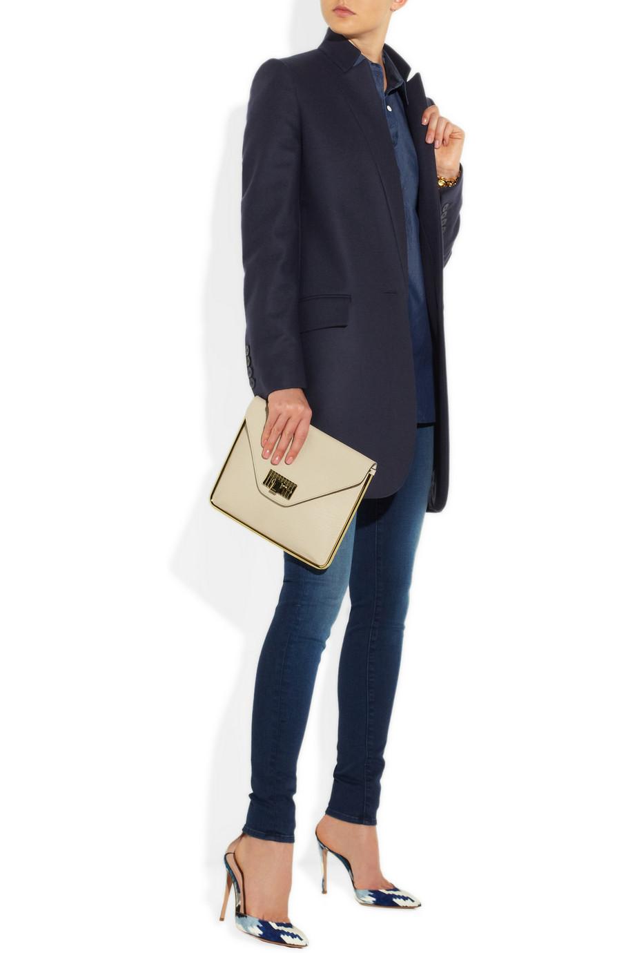Stella Mccartney Forde Melton Wool Coat In Blue Lyst