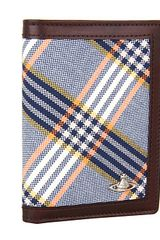 Vivienne Westwood Tartan Vertical Credit Card Holder - Lyst