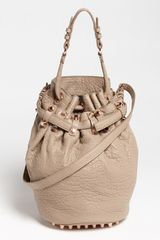 Alexander Wang Diego Rosegold Leather Bucket Bag - Lyst