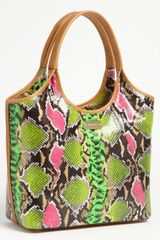 Brahmin Anaconda Small Shopper - Lyst