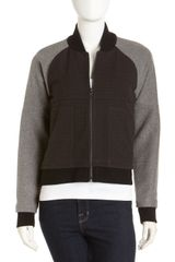 Cut25 By Yigal Azrouël Mixed Media Varsity Jacket - Lyst