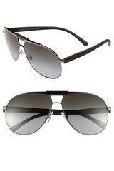 Dolce & Gabbana 62mm Classic Aviator Polarized Sunglasses - Lyst