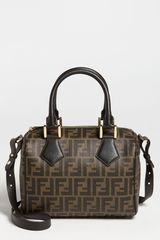 Fendi Zucca Small Boston Bag - Lyst