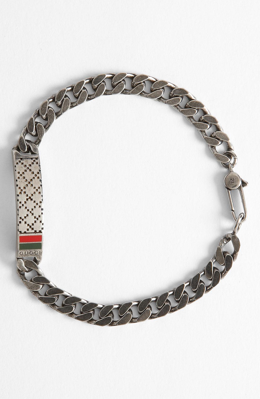 Gucci Mens Silver Bracelet Best 2018