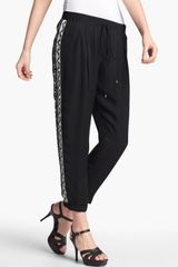 Haute Hippie Beaded Silk Trousers - Lyst