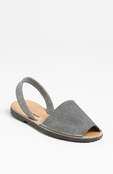 337d81af48110 Jeffrey Campbell Ibiza Sandal in Silver (pewter metallic suede)