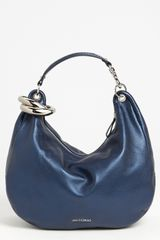 Jimmy Choo Solar Large Pearlized Metallic Leather Hobo - Lyst