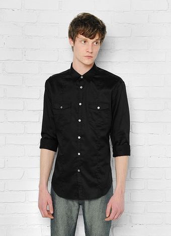 John Varvatos Military Shirt - Lyst