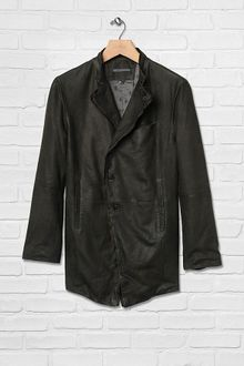 John Varvatos Double Breasted Shirt Collar Jacket - Lyst