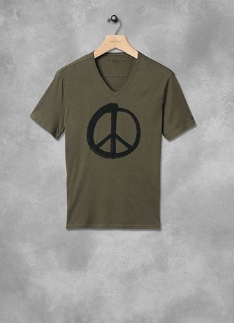 John Varvatos Painted Peace Sign Graphic Tee - Lyst