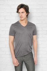 John Varvatos Short Sleeve Linen V-neck - Lyst