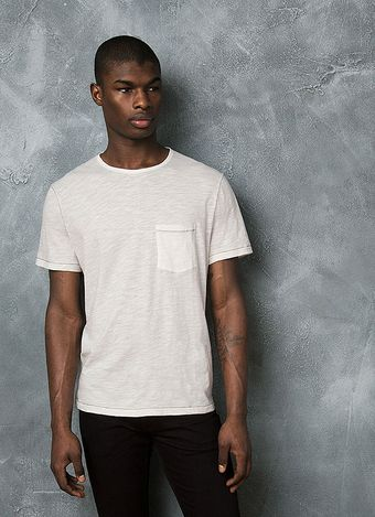 John Varvatos Signature Slub Cotton Tee - Lyst