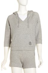Juicy Couture Cropped Raglan Hoodie - Lyst