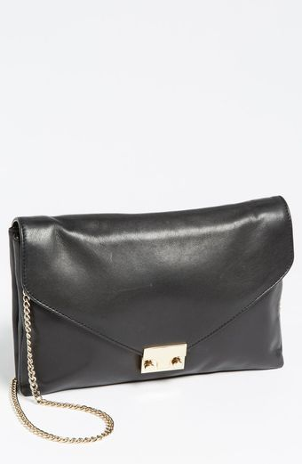 Loeffler Randall Lock Leather Clutch - Lyst
