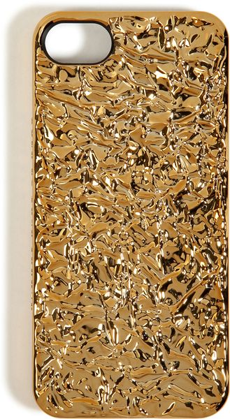 Marc By Marc Jacobs Foil Covered Iphone 5 Case in Gold - Lyst