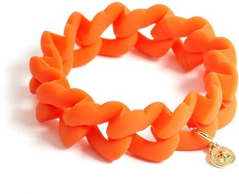 Marc By Marc Jacobs Fluoro Orange Haute Mess Rubber Turnlock Bracelet - Lyst
