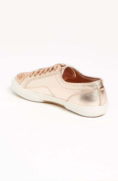 michael michael kors boerum studded sneaker in pink rose. Black Bedroom Furniture Sets. Home Design Ideas