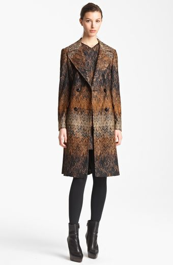 Missoni Long Flame Stitch Coat - Lyst