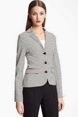 Moschino Cheap & Chic Stripe Jersey Jacket - Lyst