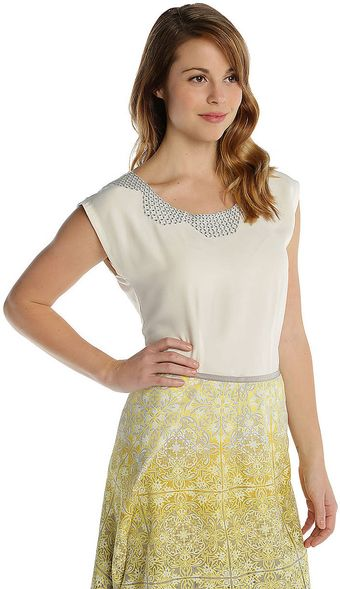 Nic + Zoe Vintage Embroidered Top - Lyst