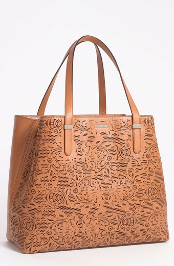 Rebecca Minkoff Lasercut Perfection Leather Tote - Lyst